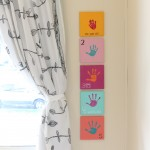 Yearly Handprint Canvas {Year 5}