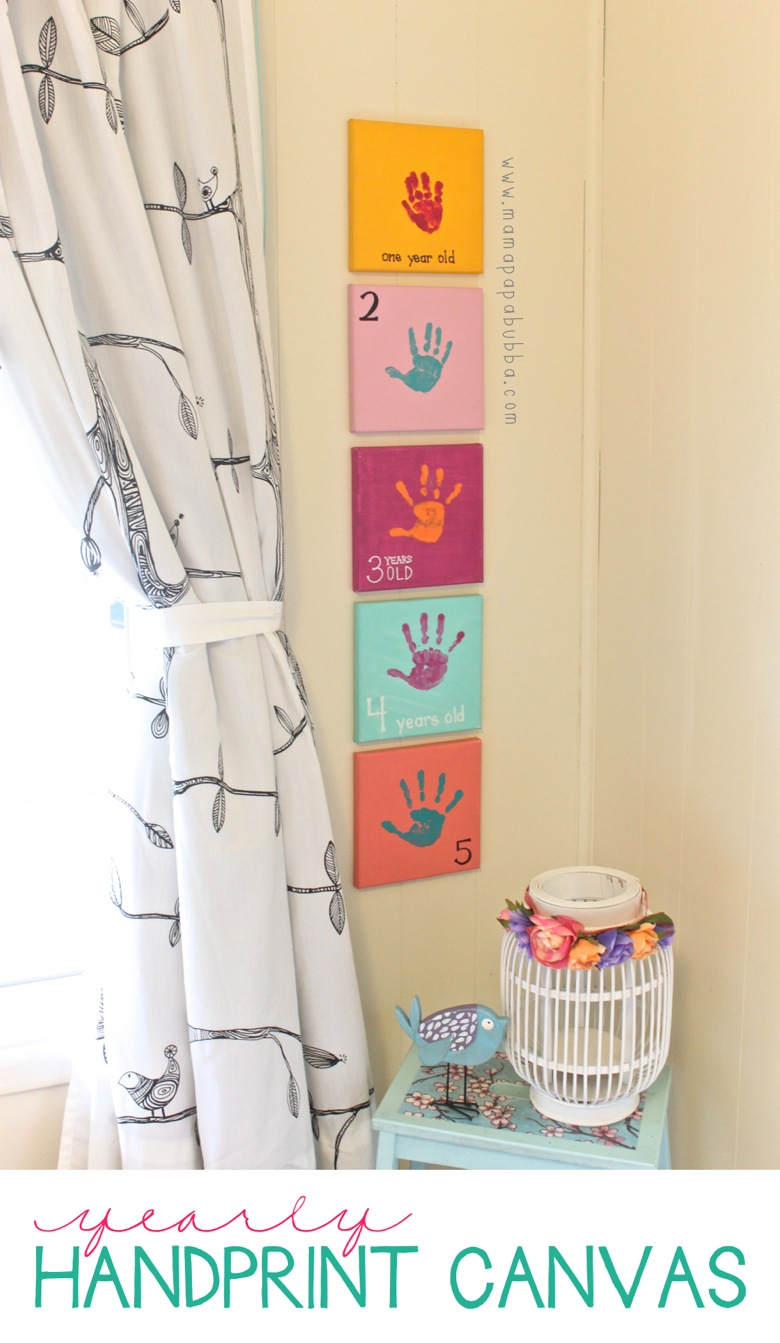 Yearly Handprint Canvas | Mama Papa Bubba