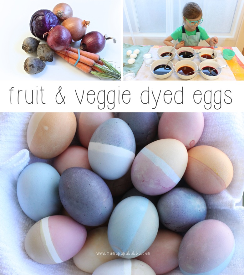 Fruit Veggie Dyed Eggs | Mama Papa Bubba
