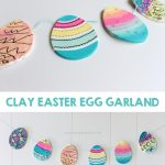 Clay Easter Egg Garland