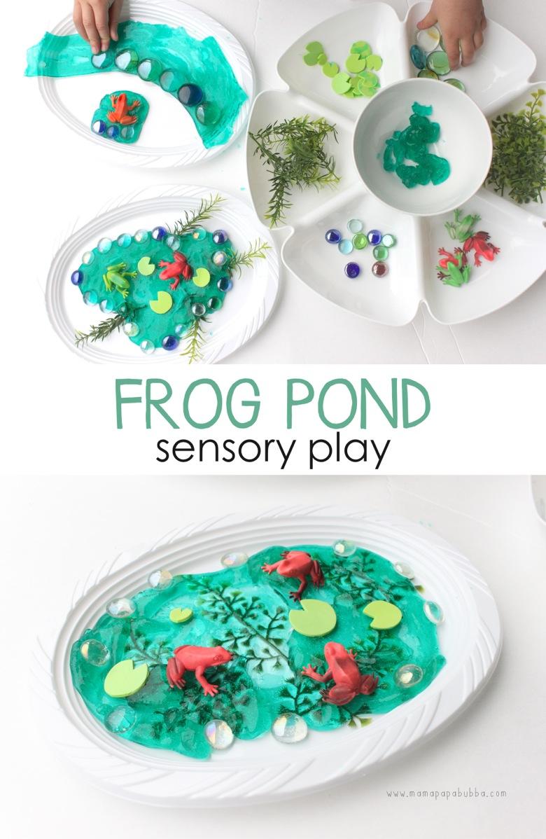 Frog Pond Sensory Play | Mama Papa Bubba