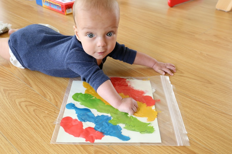 Sensory Toys For 12 Month Old : Tummy time painting mama papa bubba