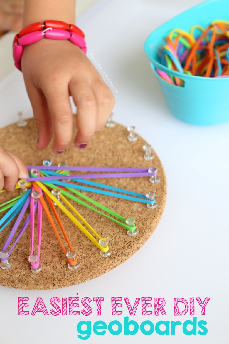 Easiest Ever DIY Geoboards | Mama Papa Bubba