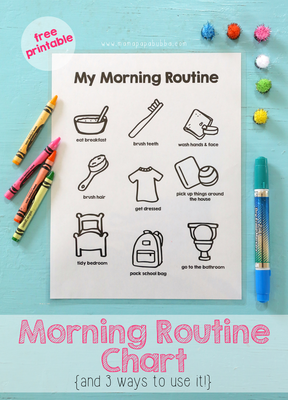 Printable Morning Routine Chart | Mama.Papa.Bubba.