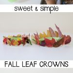 Sweet and Simple Fall Leaf Crowns