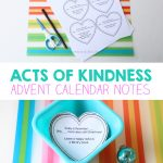 Acts of Kindness Advent Calendar Notes