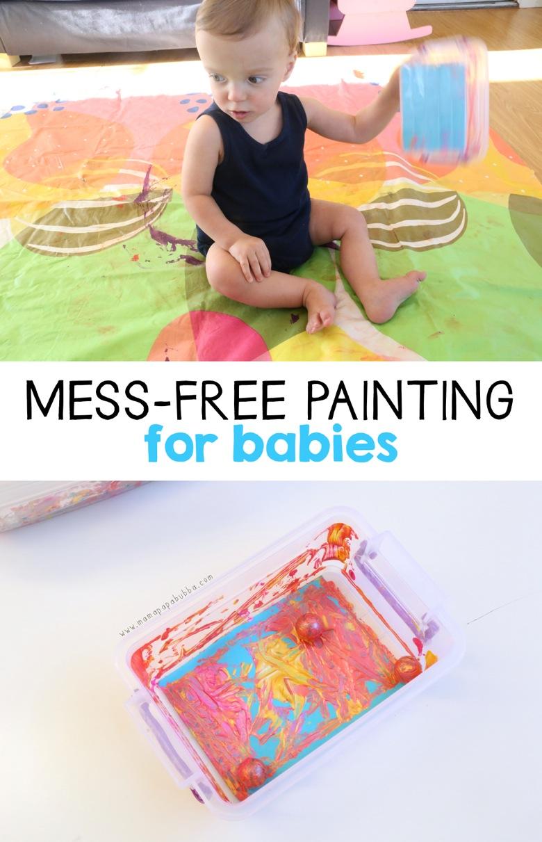 Mess Free Painting for Babies | Mama Papa Bubba