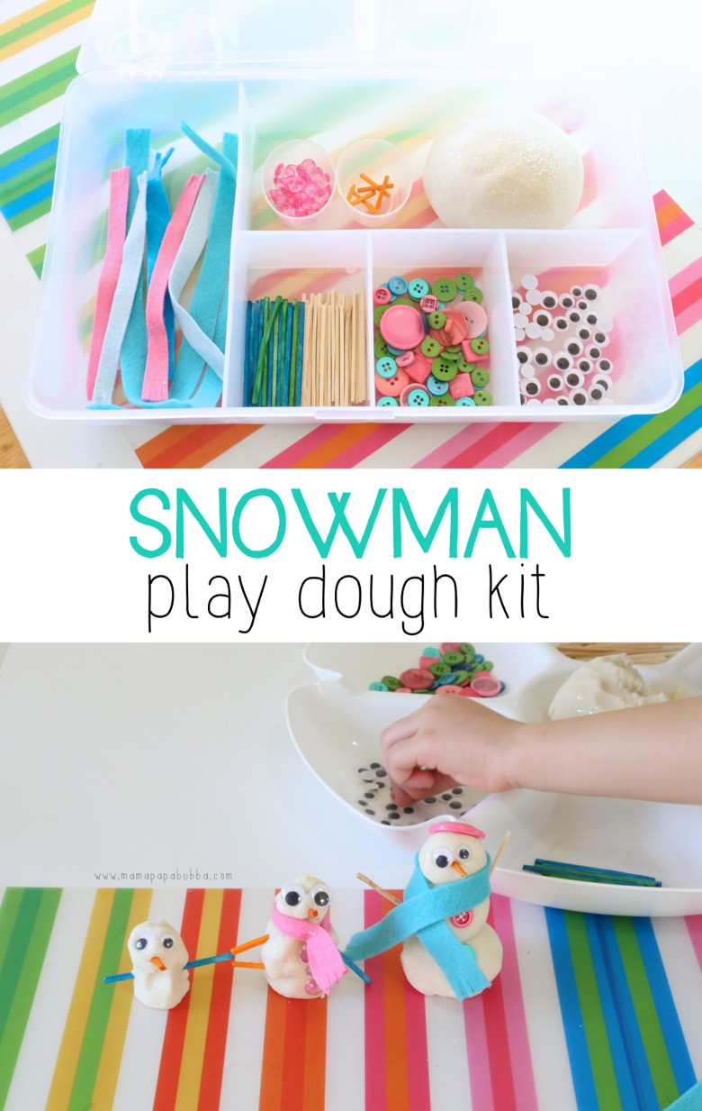 Snowman Play Dough Kit | Mama Papa Bubba