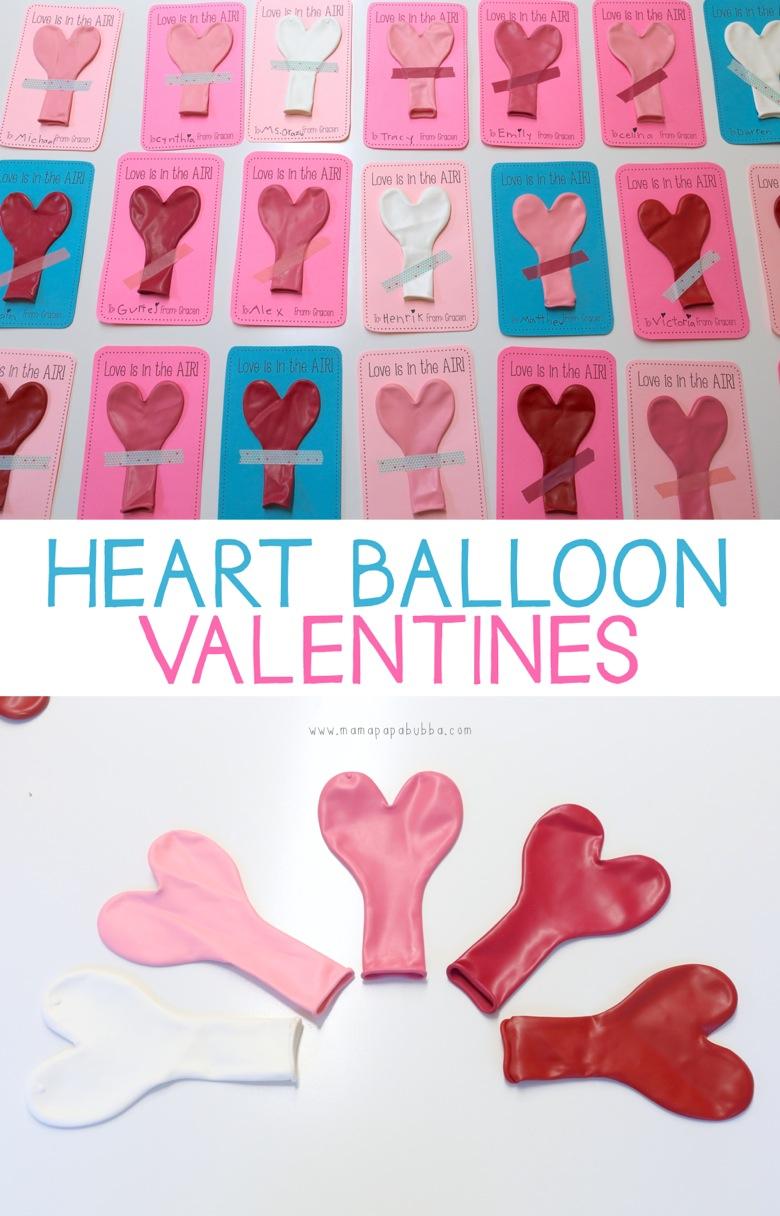 Heart Balloon Valentines | Mama Papa Bubba