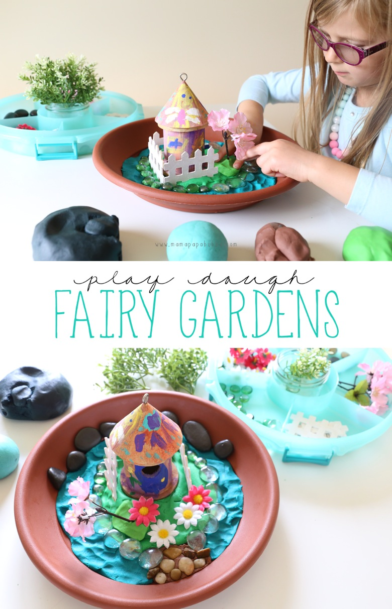 Play Dough Fairy Gardens | Mama Papa Bubba