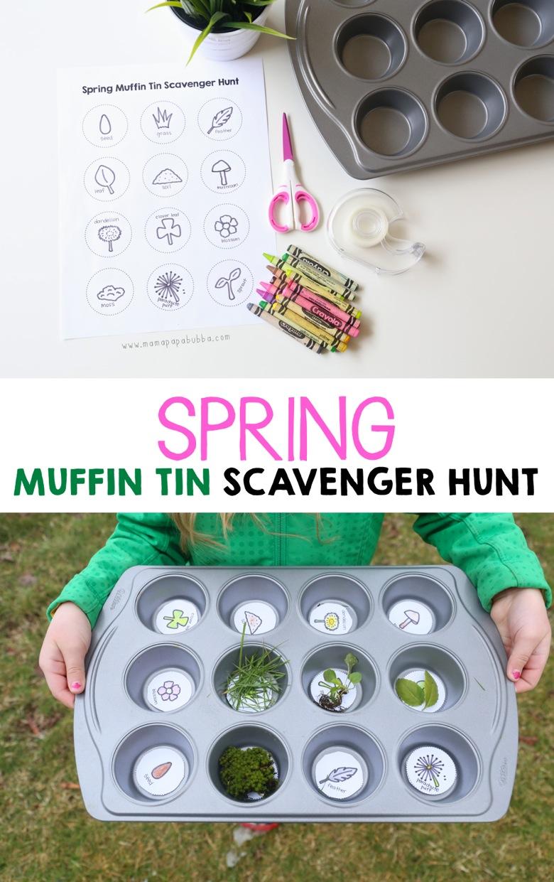 Spring Muffin Tin Scavenger Hunt | Mama Papa Bubba