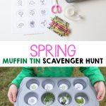 Spring Muffin Tin Scavenger Hunt
