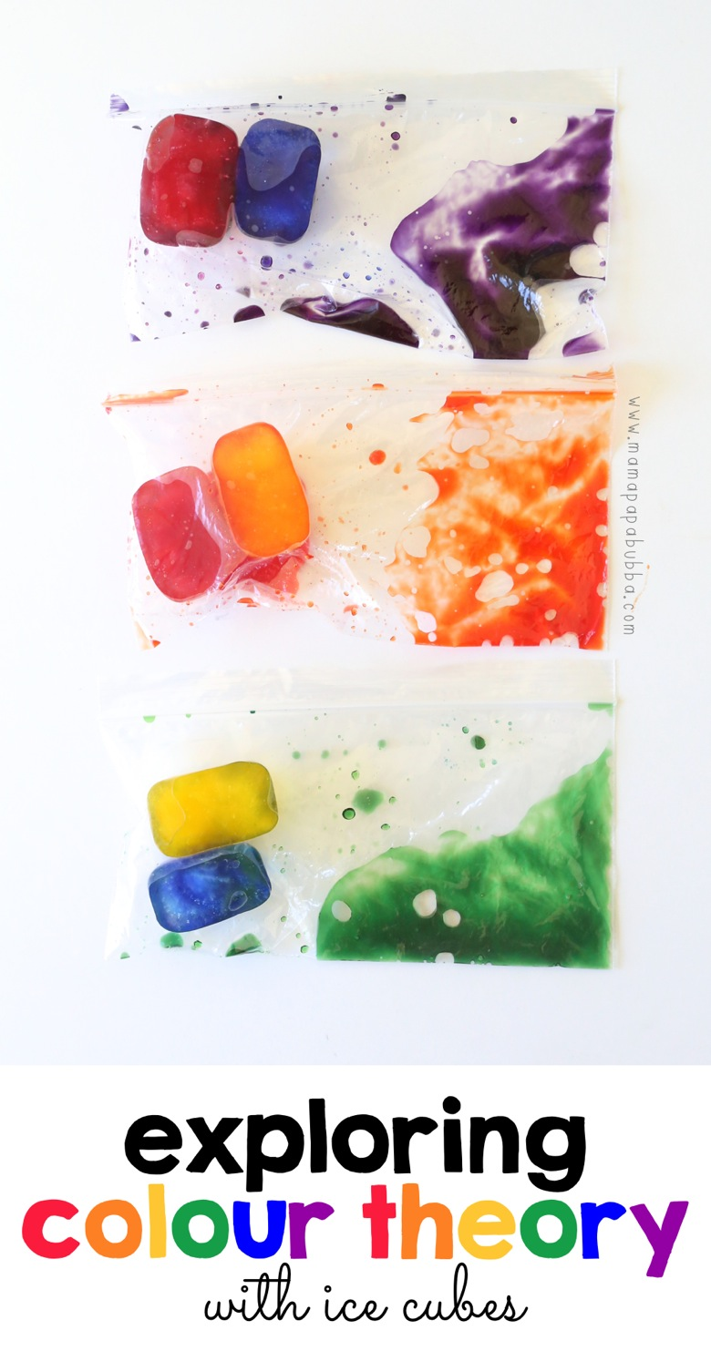 Exploring Colour Theory With Ice Cubes | Mama Papa Bubba