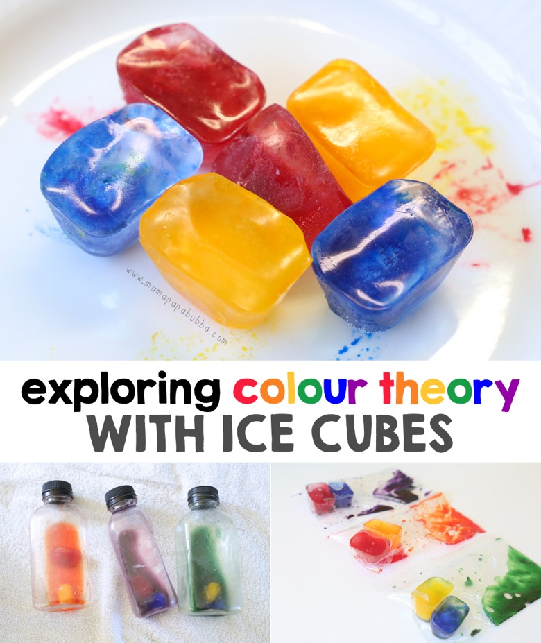 Exploring Colour Theory With Ice Cubes two ways | Mama Papa Bubba