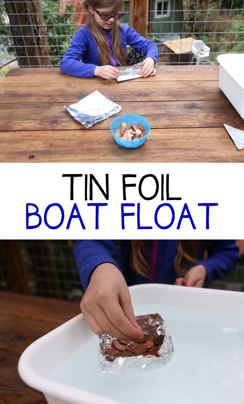 Tin Foil Boat Float | Mama Papa Bubba