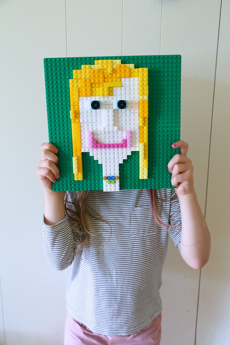 how to make a lego self portrait