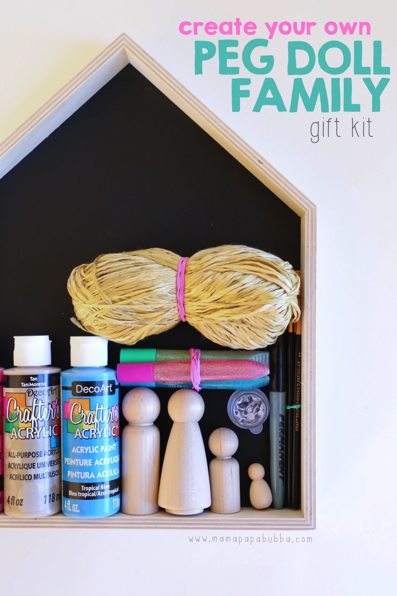 Create Your Own Peg Doll Family Gift Kit | Mama Papa Bubba