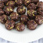 Chocolate Cranberry Pumpkin Seed Bliss Balls