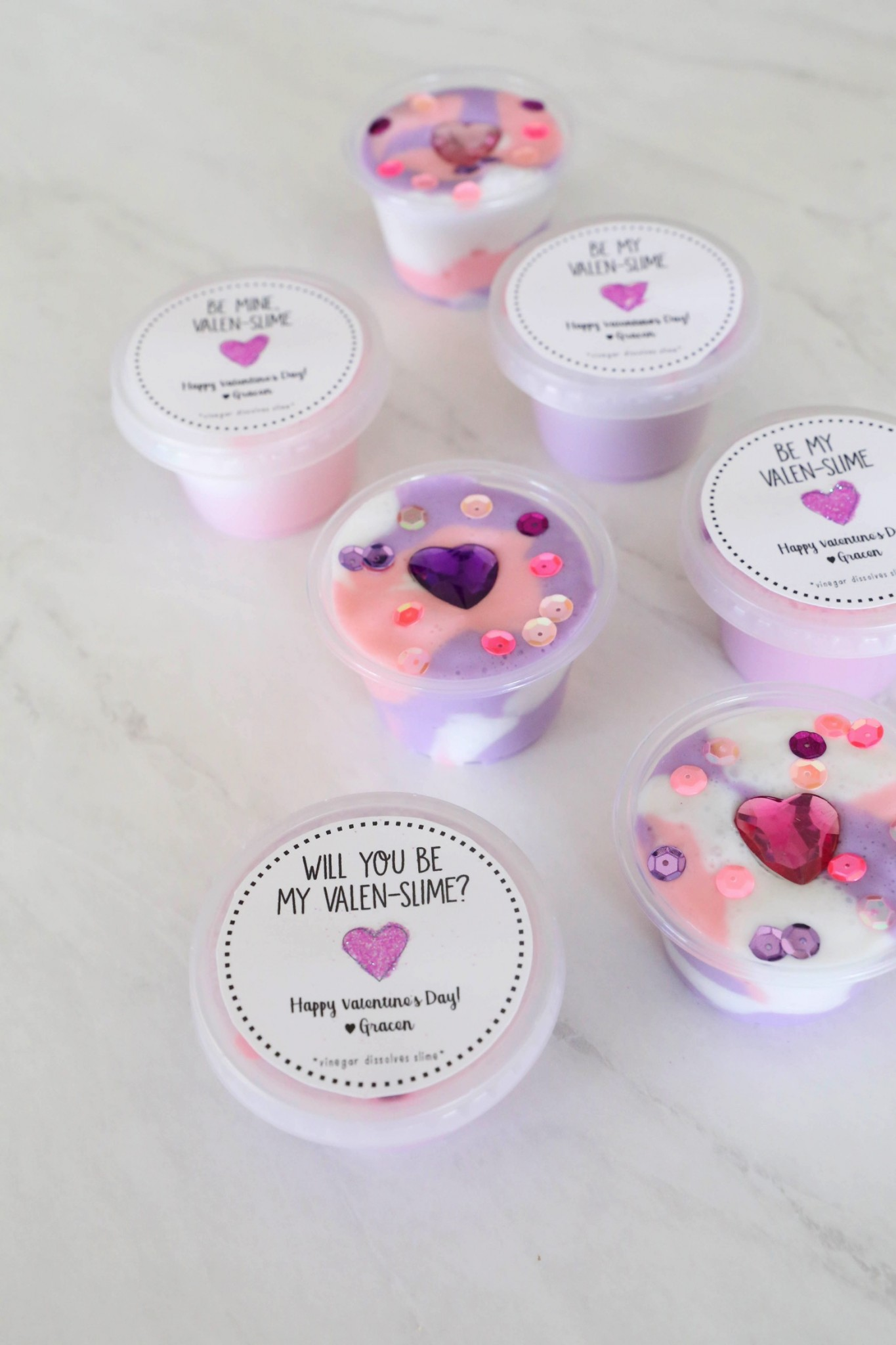Valentine's Day Slime Favours