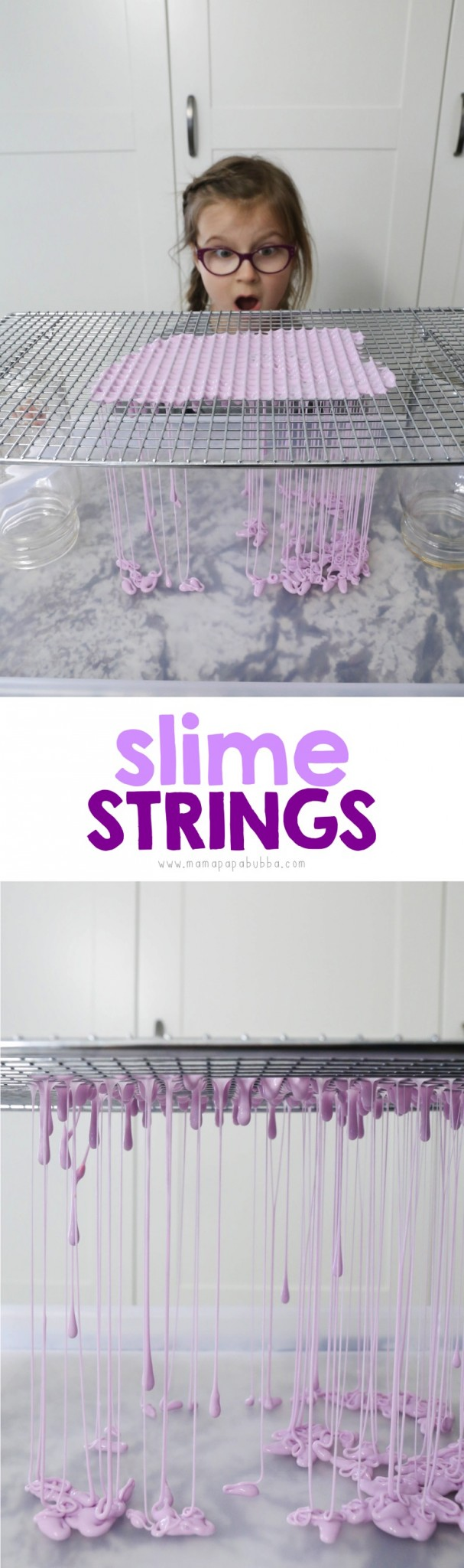 Slime Strings with Slime and a Cooling Rack | Mama Papa Bubba