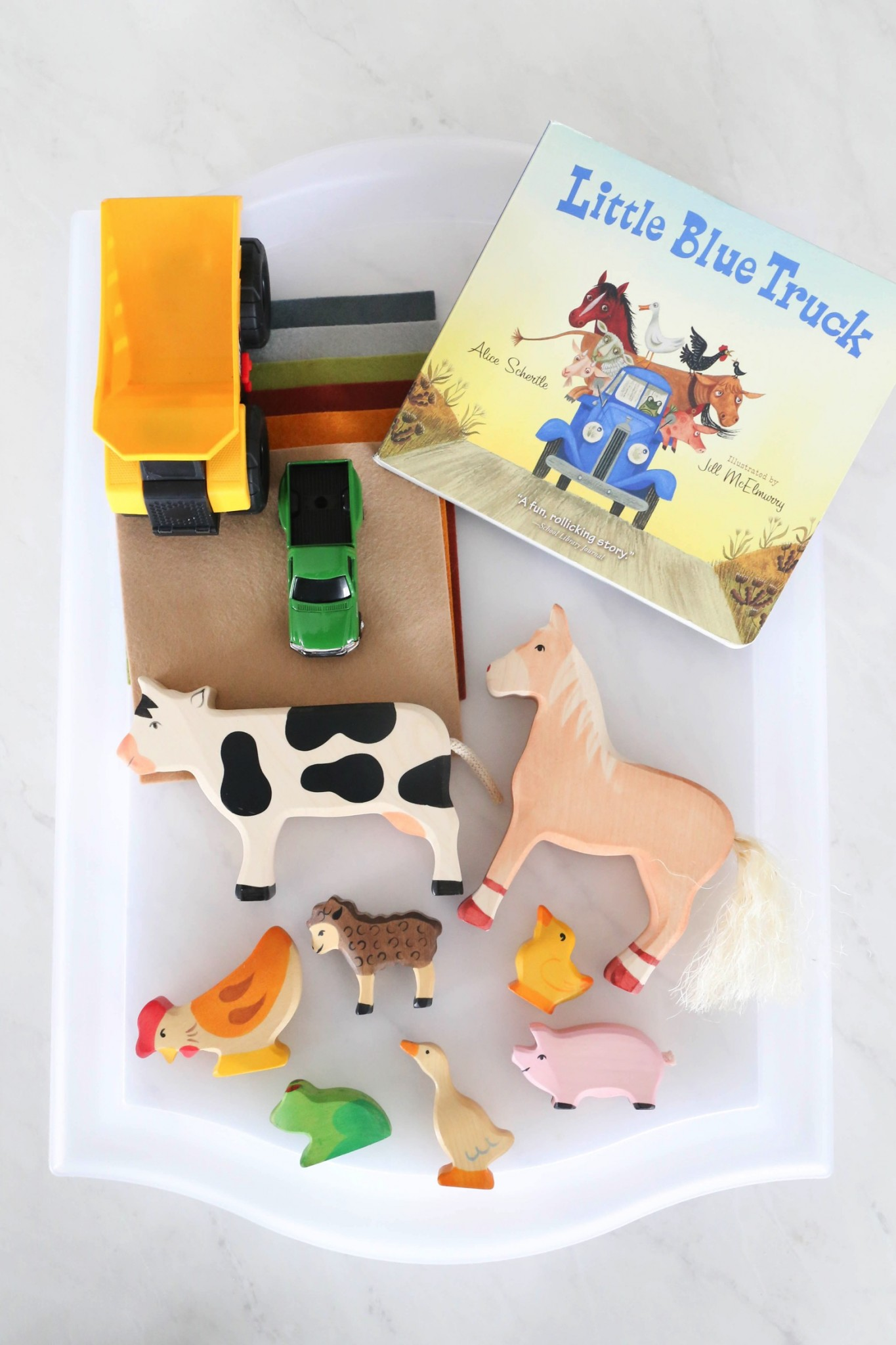 Little Blue Truck Story Telling Basket
