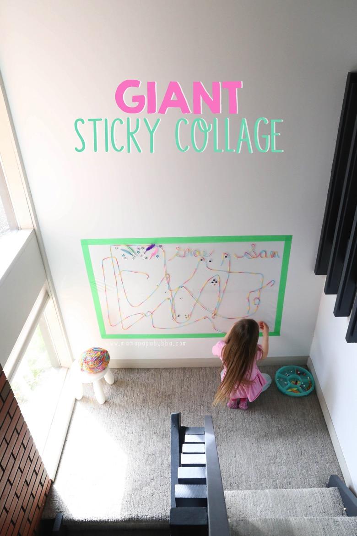 Giant Sticky Collage | Mama Papa Bubba