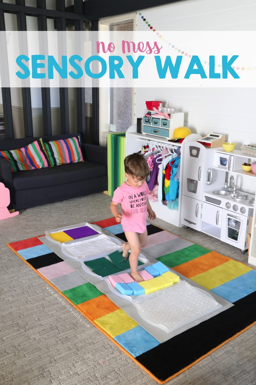 No Mess Sensory Walk | Mama Papa Bubba