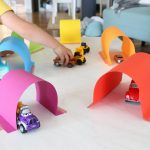 Easy Paper Tunnels for Little Car Lovers