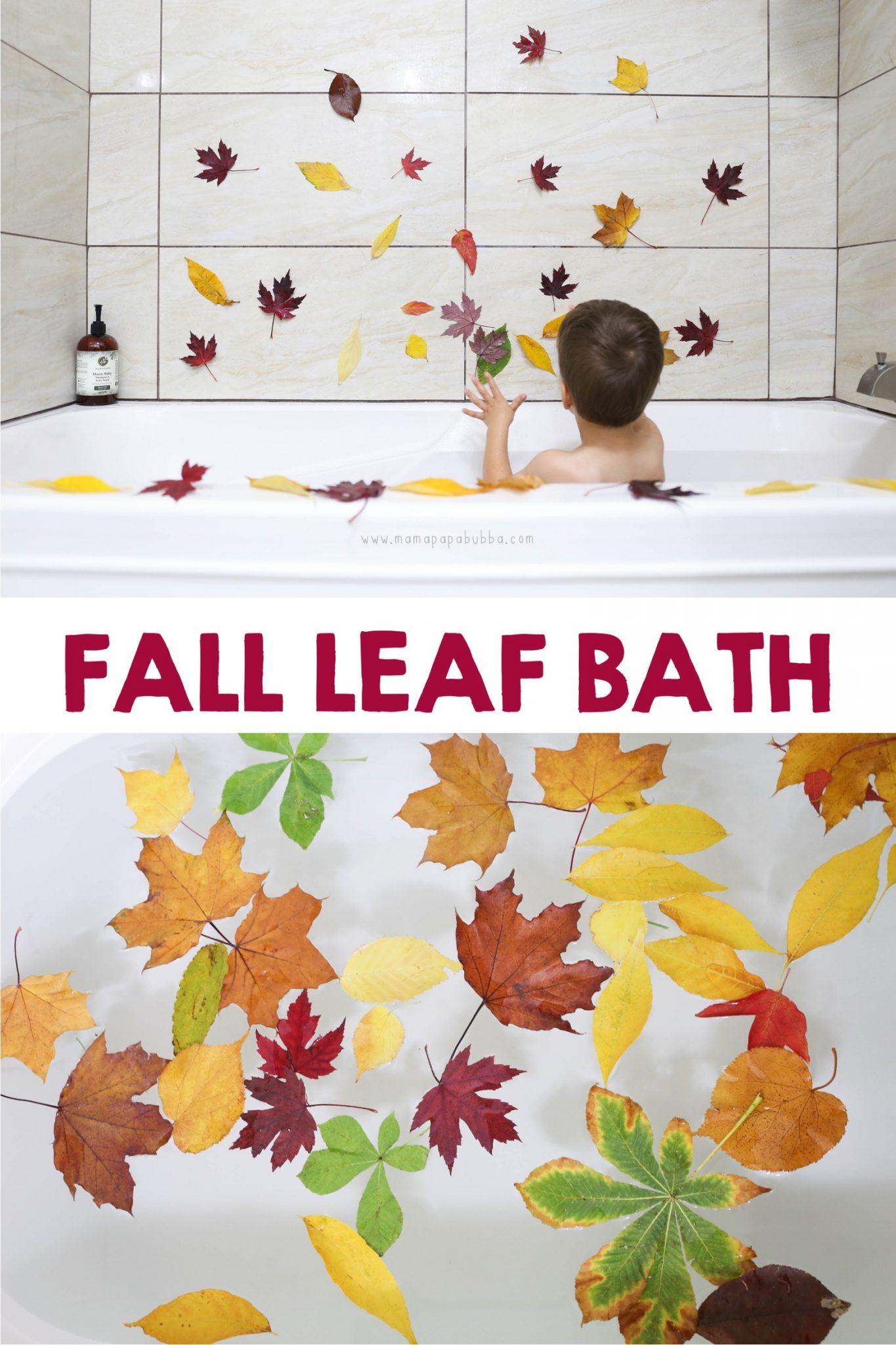 Autumn Leaf Bath | Mama Papa Bubba