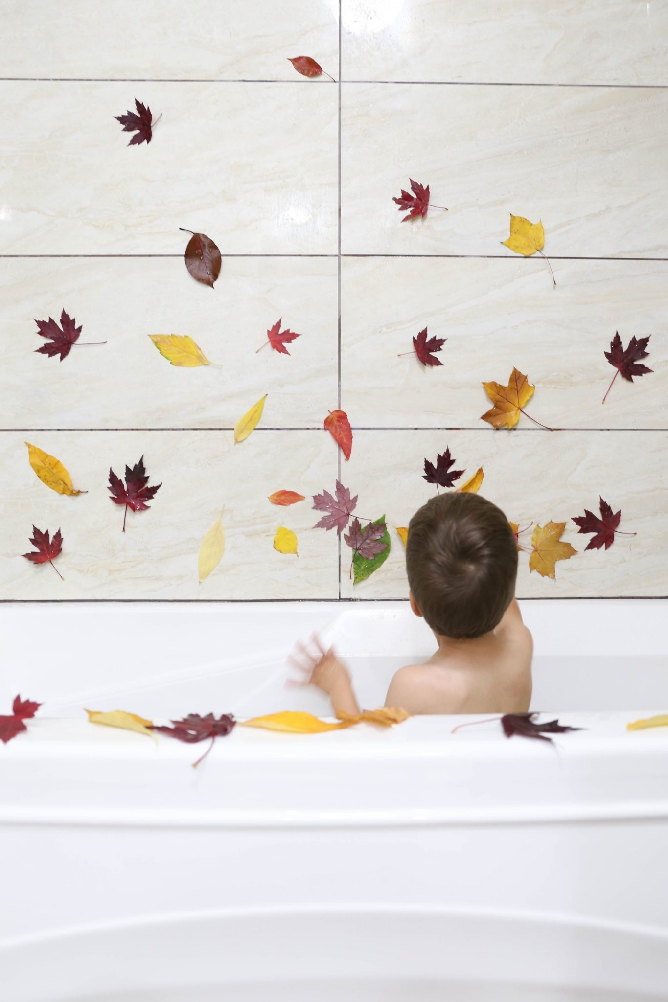Fall Leaf Bath | Mama.Papa.Bubba.
