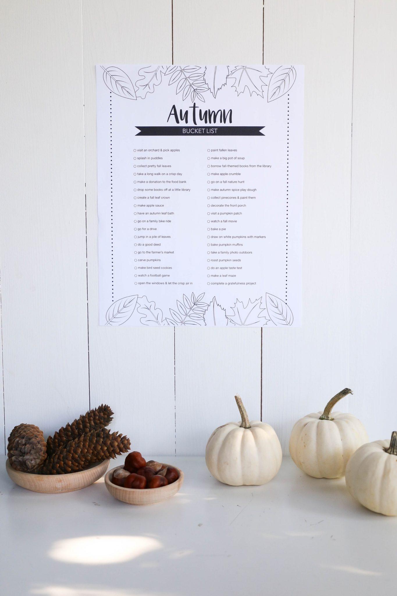Printable Autumn Bucket List | Mama.Papa.Bubba.