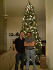 My son Josh and me