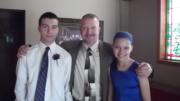 MY KIDS AND I AT MY NEPHEWS WEDDING - JUNE 2015