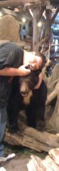Me hugging a bear