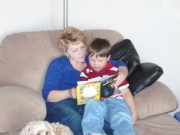 Grandson Devan and I