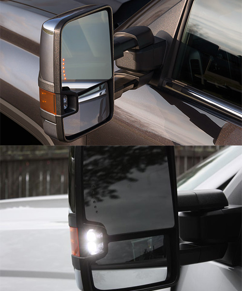 14-17 GMC Sierra 1500 Power Operated//Heated Defrost Towing Mirrors LED Signal