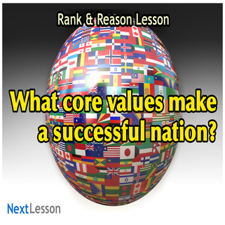 Nations and Core Values - Rank & Reason