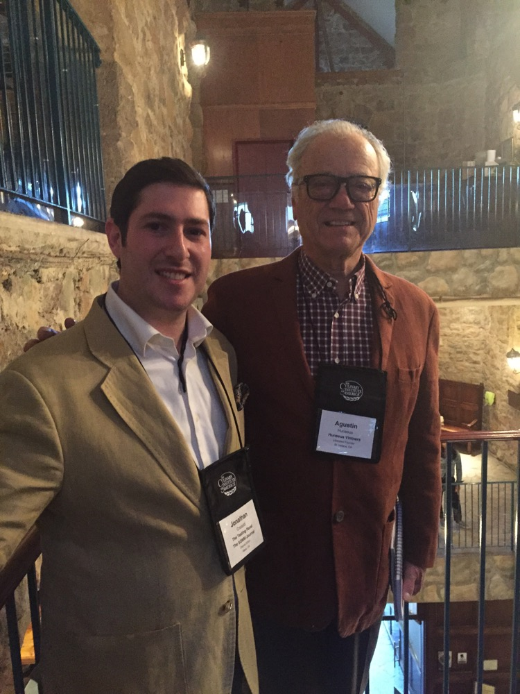 Ran into Agustin Huneeus at the CIA's Sommelier Summit in April 2015.