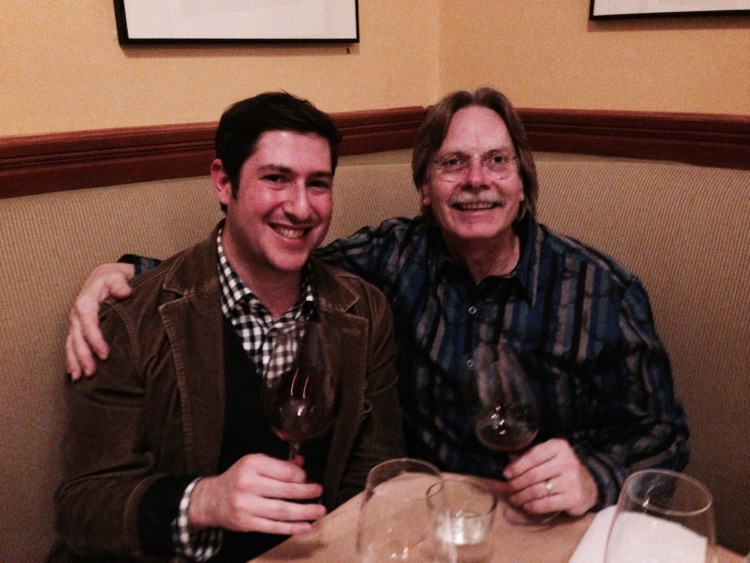 That's me and Bob Cabral, of Three Stick's Winery, formerly Kosta Browne.