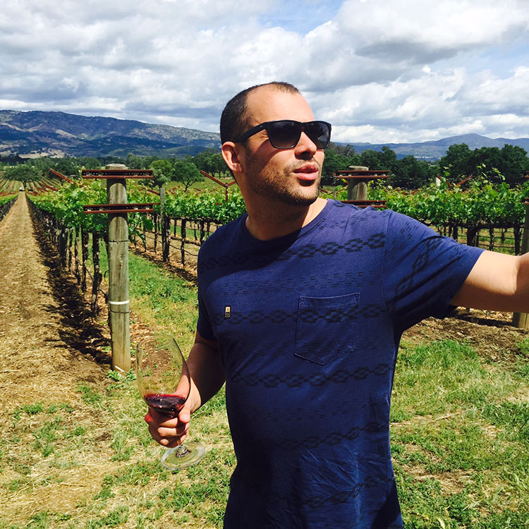 Winemaker Josh Phelps, of Taken Wine Co, showing me around Sleeping Lady Vineyard, where his dad, Chris Phelps. sources fruit to make Ad Vivum, a dazzling, premium, old world style Napa Cab.