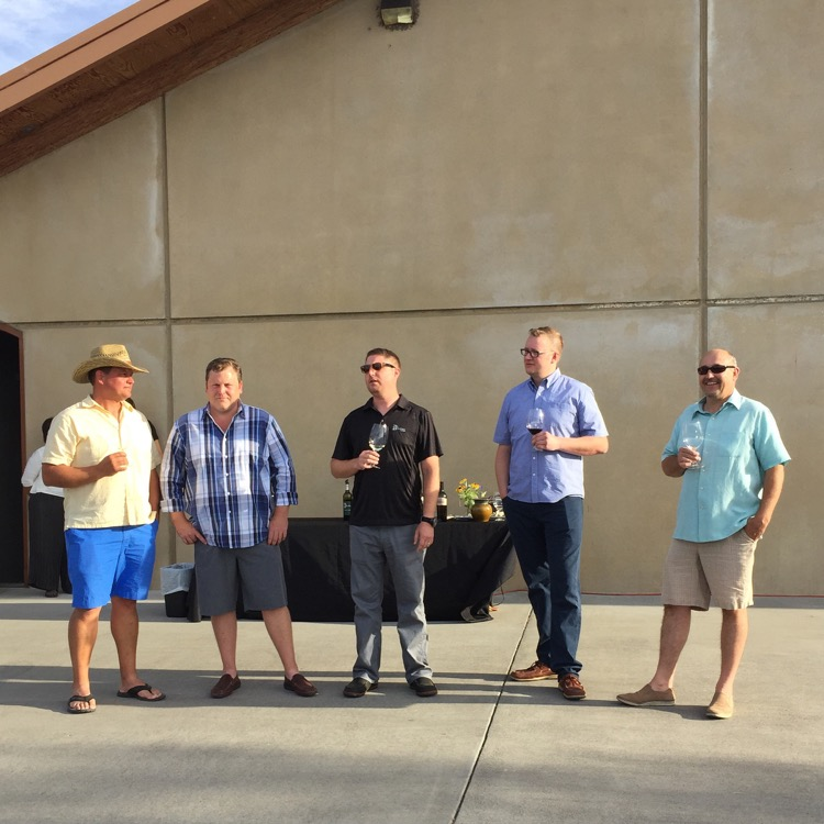 These are five awesome winemakers from Walla Walla Washington and my boy, Jean-Francois Pellet there on the far right.