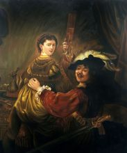 Rembrandt and Saskia in the Parable of the Prodigal Son - 20