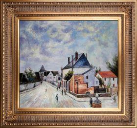 Street in Moret (Porte de Bourgogne from across the Bridge) Pre-Framed - 0