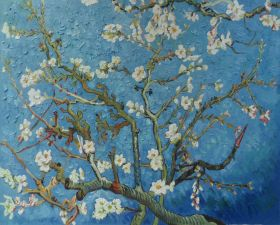 Branches of an Almond Tree in Blossom - 48