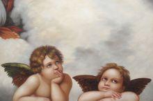 Madonna Sixtina (2 cherubs detail) - 36