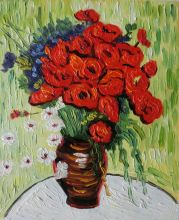 Vase with Daisies and Poppies - 8