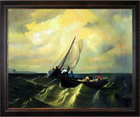 Fishing Boats on Bay of Fundy Pre-Framed - 40