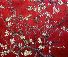 Branches of an Almond Tree in Blossom (Interpretation in Red) - 24