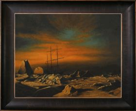 Panther Among Icebergs in Melville Bay Pre-Framed - 40