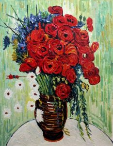 Vase with Daisies and Poppies - 20